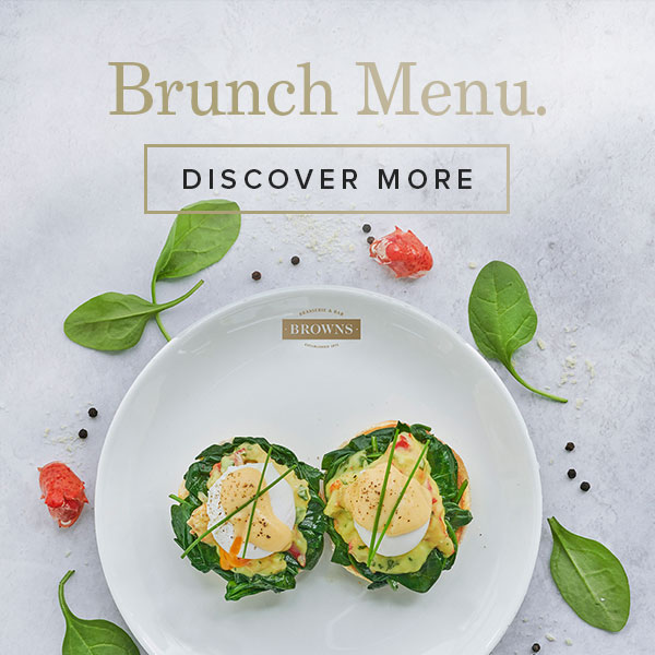 Brunch Menu at Browns West India Quay