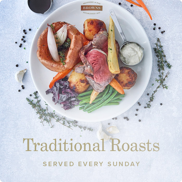 Sunday Roasts at Browns Victoria