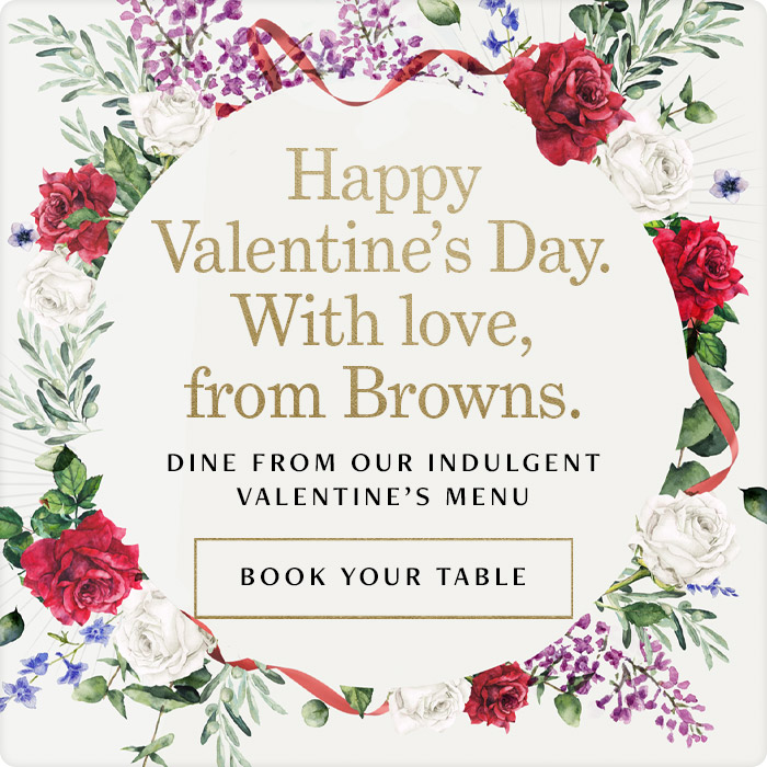 Valentines Day at Browns West India Quay