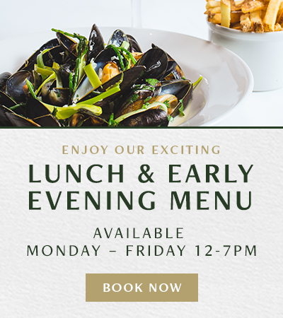 Lunch and Early Evening Menu at Browns Victoria