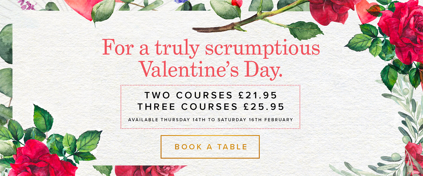 Valentine's Menu 2019 at Browns Reading in Reading
