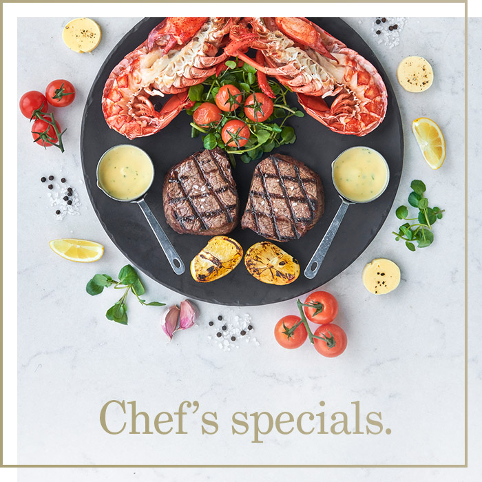 Chef's Specials at Browns Cambridge